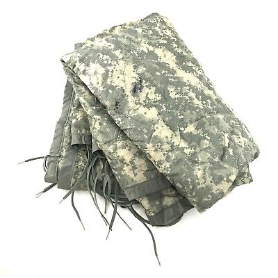 US Military All Weather Poncho Liner, ACU Camo Woobie Blanket, Camping DEFECT