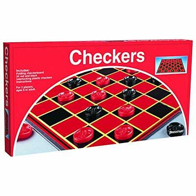 Pressman Toy Checkers Folding Board Game-1 Pack Red BOX FREE DELIVERY