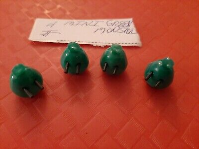 Vintage Gumball/Dime Store Mini Green Monsters With Popout Eyes Charms Lot Of 4