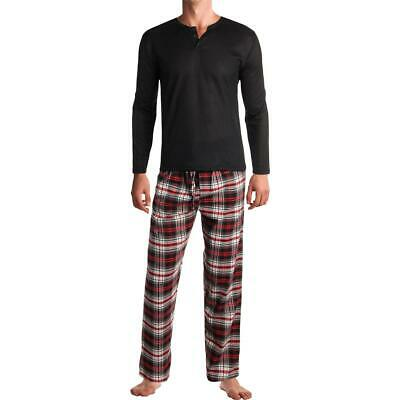 Rugged Frontier Men's Warm Flannel Plaid 2-Piece Lounge Pajama Set