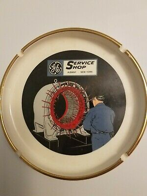 Vintage General Electric Service Shop Ashtray Albany NY  Collectible Rare