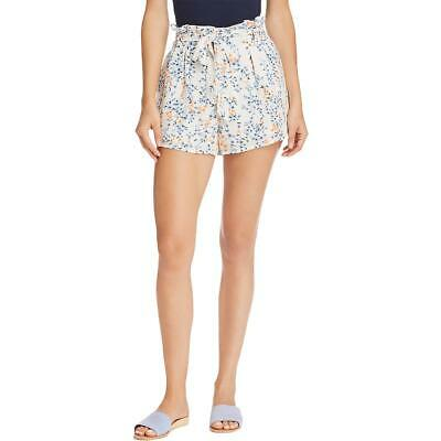 Aqua Womens Floral Crinkle Pull On Casual Shorts BHFO 6665
