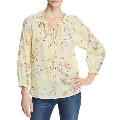 Velvet Womens Sheer Floral Print Pullover Peasant Top Blouse BHFO 8242
