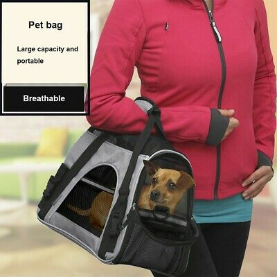Portable Pet Carrier Soft Sided Cat Dog Comfort Travel Breathable Tote Bag