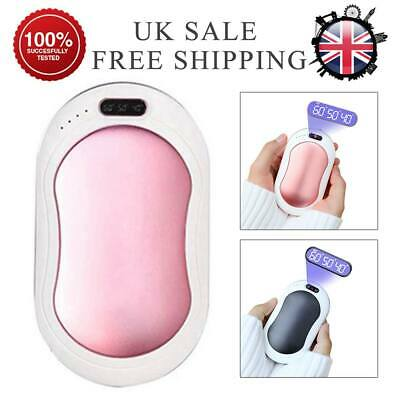 Portable USB Hand Warmer Rechargeable Electric Heater Power Pocket Warmers Bank