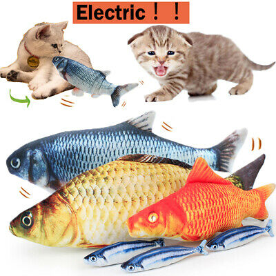 Electric Cat Wagging Fish Realistic Plush Simulation Catnip Fish Interactive Toy