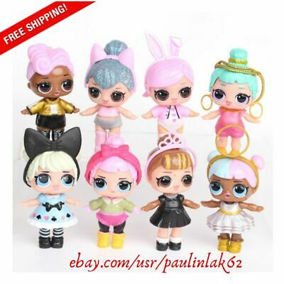 LOL Surprise Doll Baby Tear Series Ornament Kids Toy Gift 8 Pcs Cute Figures Set