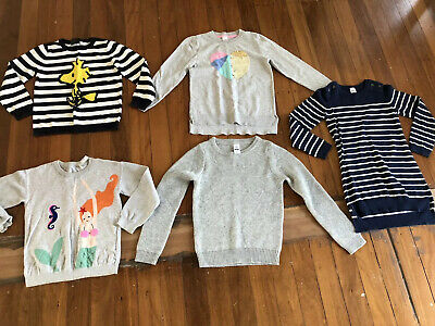 5 X Size 8 - 9 Girls Cotton On Target Knitted Jumpers
