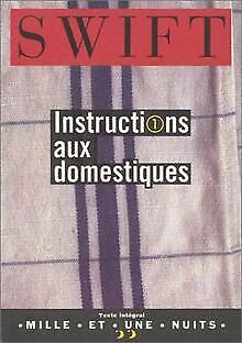 Instructions aux domestiques by Jonathan Swift | Book | condition very good
