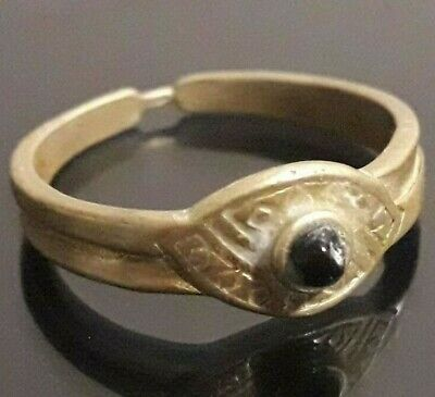 Amulet Rare Ancient Ring Bronze Unique Viking Lake Ladoga Very Old Norse Antique