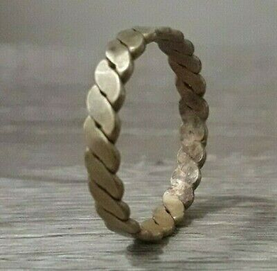 Ancient Twisted Ring Bronze Very Rare Artifact Viking Lake Ladoga Type Old Norse