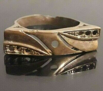 Ancient Bronze Viking Ring Artifact Lake Ladoga Norse Antique Very Rare Unique