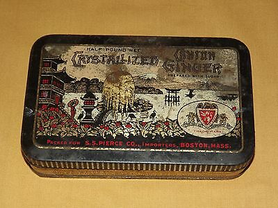 Vintage China Ss Pierce Food Ad Crystallized Canton Ginger   Tin Can Empty