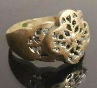 Stunning ANcient Ring Extremely Rare Type Viking Ornament Old Nordic Jewelry