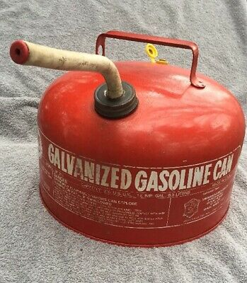 Vintage Eagle 2 1/2 Gallon Vented Galvanized Metal Gas Can