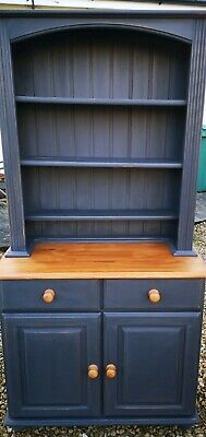 Hand Painted Lightly Distressed Solid Pine Dresser In Athenian Black Annie Sloan