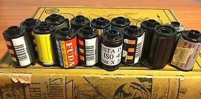 Lot Of 15 Empty Assorted 35mm Film Canisters, Cassettes, Cartridges