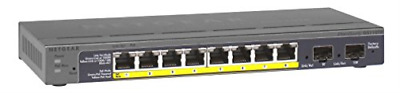 Prosafe 8-Port Gigabit Poe Smart Switch (With 2X Gigabit Sfp Uplinks) NEW
