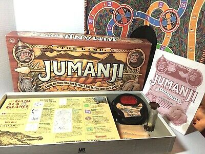 Jumanji Board Game 4407 Milton Bradley 1995 Game That Pursues You! 100% Complete
