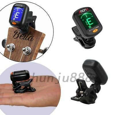 LCD Clip -On Chromatic Acoustic Electric Guitar Bass Ukulele Banjo Tuner UK