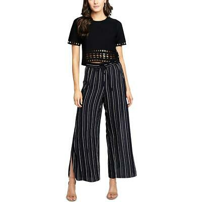 Rachel Rachel Roy Womens Striped Side Slit Casual Wide Leg Pants BHFO 6530