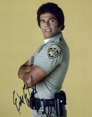 Erik Estrada (CHiPs / Sealab 2021) Signed 8x10 Photo AW World COA - JSA PSA