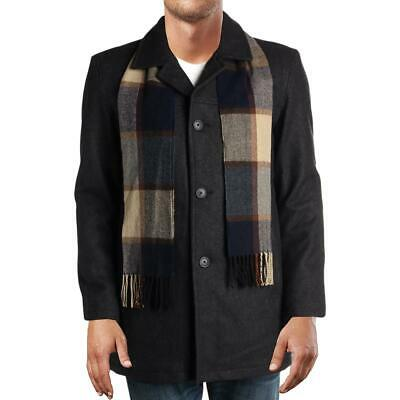 Tommy Hilfiger Mens Winter Wool Herringbone Car Coat Outerwear BHFO 3648
