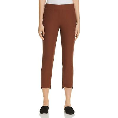 Eileen Fisher Womens Brown Split Hem High Rise Cropped Pants XS BHFO 7890