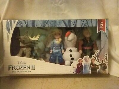 DISENY FROZEN II PLUSH COLLECTOR SET Anna Elsa Sven OLAF Kristoff 5 PIECES NEW
