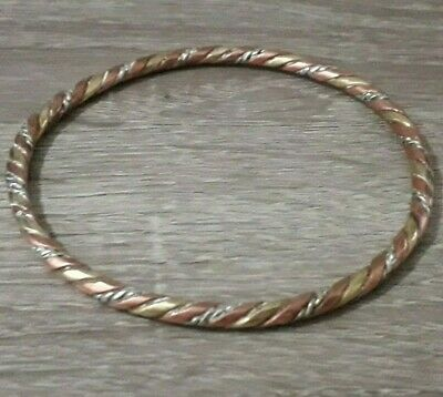 Rare Twisted Bracelet Viking Unique Stunning Old Artifact Nordic Antique Bronze