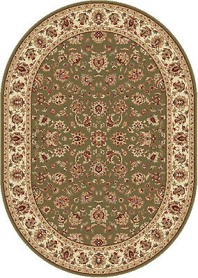 Floral Rug Oval Elegant Made in USA Butterflies Rich Colored Fast Shipping