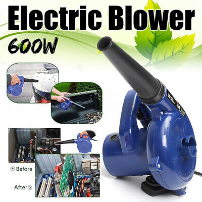 2 in1 Air Blower Handheld Electric Car Computer Cleaning Home Dust Leaf Vacuum &