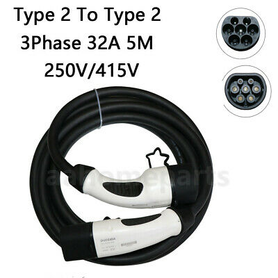 Type 2 to Type 2 IEC 6219 Electric Charging Cable EV Charger 32A 5 Meter 3 Phase