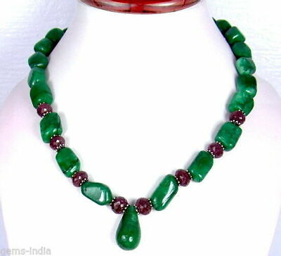 Jewellery Watches Rare Wholesale Price 79 50 Cts Natural Rich Red Ruby Faceted Beads Necklace Fine Gemstone Necklaces Pendants Rainx Cl