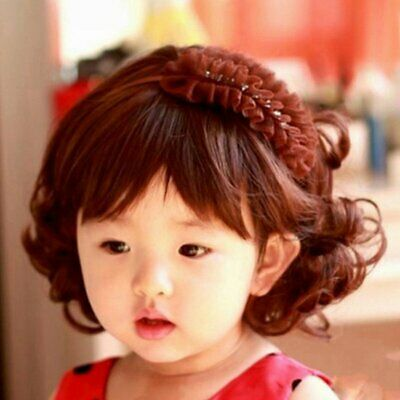 Lovely Boys Girls Hair Wig Full Head Children Wigs Kids Daily Hairpiece UX