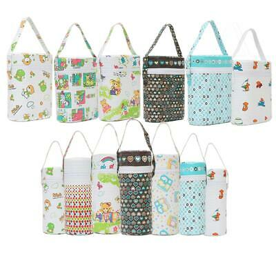 Fashion Portable Baby Feeding Bottle Thermal Bag Milk Warmer Hang Stroller Pouch