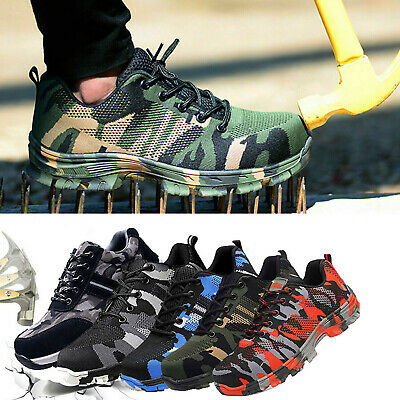 Safety Shoes for Men Steel Toe Trainers Lightweight Work Shoes Sports Hiking