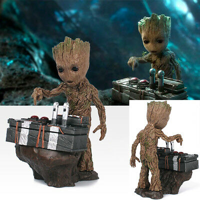 Guardians of the Galaxy Vol.2 Push Bomb Button Baby Groot Figure Statue Toy