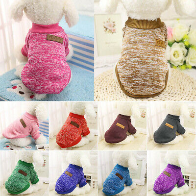 Pet Dog Soft Sweater Pullover Clothes for Puppy Small Cat Outfit Jumpers Court