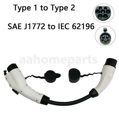 EV Charger Cable SAE J1772 to IEC 62196-2Type 1 to Type 2 32A for Electric Car