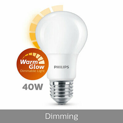 PHILIPS LED CLASSIC Warmglow Lampe Remplacé 60W, E27, Chaude