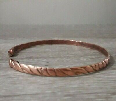 Ancient Bronze Bracelet Twisted Very Rare Artifact Lake Ladoga Viking Unique