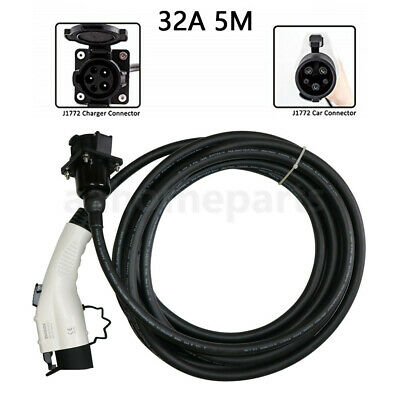 32A EV Charger Cable Type 1 SAE J1772 Charging Extension Cable for Evse Station