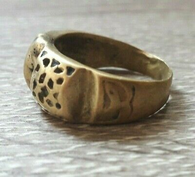Vintage Ring Very Rare Old Antique Viking Amulet Type Artifact Jewelry Unique