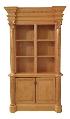 31492EC: Custom Made Maple Open Bookcase Wall Unit
