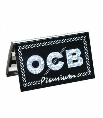 1 box OCB PREMIUM BLACK DOUBLE Rolling Papers X 25 packs /total 2500 papers  /