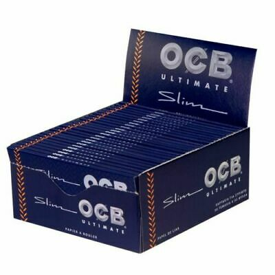 OCB ULTIMATE SLIMS 1 full box rolling papers 1600 papers / 50 packs /x 32 sheets