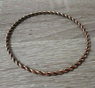 Ancient Bronze Bracelet Twisted Warrior Viking Unique Old Collection Rare Find