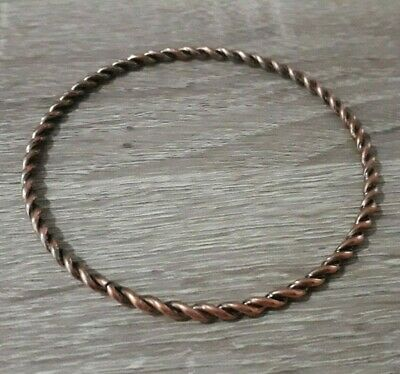 Rare Ancient Bronze Bracelet Twisted Warrior Viking Style Old Collection