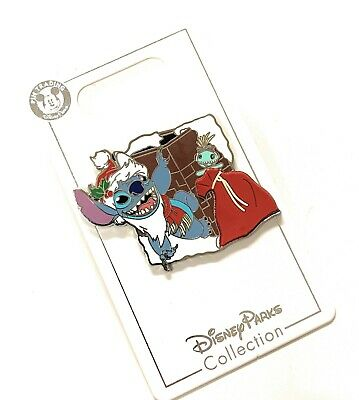 Disney Parks 2019 Santa Stitch Hanging On Chimney Christmas Holiday Pin NEW